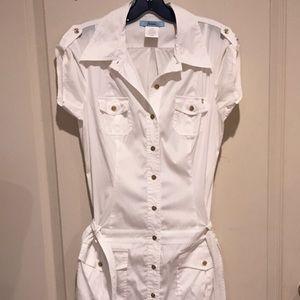 NWOT Marciano White Cargo Shirtdress